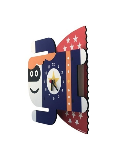 Peoples Clock Süperkız Özel Tasarım Duvar Saati Renkli